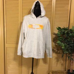 Oakley hooded gray sweatshirt
